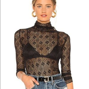 Nwt free people lace turtleneck